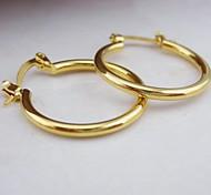 18k goldene überzogene Kreis Ohrringe