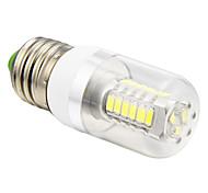 5W E26/E27 Bombillas LED de Mazorca T 27 SMD 5730 350 lm Blanco Fresco AC 100-240 V