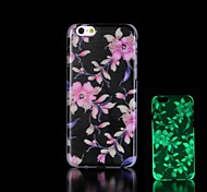 Flower Pattern Glow in the Dark Hard Case for iPhone 6