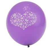 tamanho extra grande coração grosso balões redondos quebrados roxo - conjunto de 24