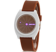 Men's LED Digital Pointer Silicone Band LED Watch (Assorted Colors)