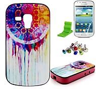 caso del patrón de la pintura al óleo con el protector de pantalla y el enchufe del polvo y soporte para Samsung tendencia galaxia dúos