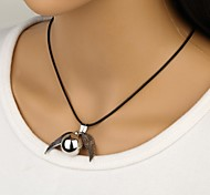 Black Pendant Necklaces Leather Daily Jewelry