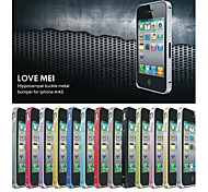 Love Mei Ultrathin Alloy Bumper Curved Edge Metal Case Cover for iPhone 4/4S (Assorted Colors)