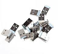 DIY USB 4-Pin Male Type A Dip Socket Connector - Silver (20-Piece Pack)