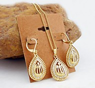 Jewelry Necklaces / Earrings Wedding / Party / Daily / Casual / Sports Gold Plated Women Gold Wedding Gifts