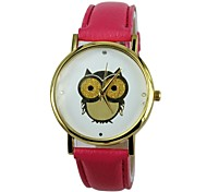 Women's The Owl Pattern PU Band Quartz Casual Watch(Assorted Colors)