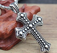 Fashion Titanium Steel Cross Good Luck Man Necklace