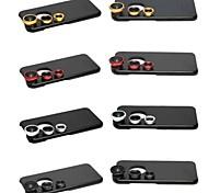 3 in 1 obiettivo grandangolare / obiettivo macro / 180 pesce kit lente dell'occhio set con il caso posteriore duro per il iphone 6 (colori assortiti)