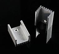 disipador de calor de aluminio / electrónicos radiador / refrigeración bloque de aluminio - plata (20 x 15 x 10 mm) (10 piezas)