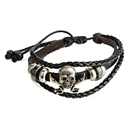 Fashion  Hot New Punk Men Genuine Leather and PU Pirate Bracelet