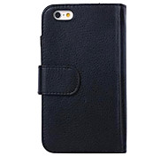 HHMM® Can Insert Card PU leather for iPhone 6 Case(Assorted Colors)