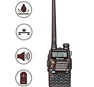 baiston bst-558uv walkie talkie con pantalla de doble banda y la función a prueba de choques a prueba de agua