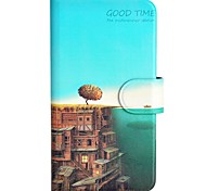 The Sea and The City Pattern PU Mobile Phone Holster With Card Slot for Samsung Galaxy Core 4G G3518