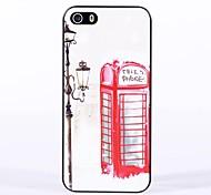 caso duro vermelho telefone estande padrão para iphone 6