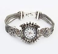 Women's European Style Peacock Case Alloy  Band Quartz Bracelet Watch