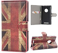 Retro Union Jack PU Leather Case Cover with Stand and Card Slot for Nokia Lumia 830