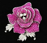 donne attraenti gioielli da sposa strass partito rosa pin spilla fiore spilla (più colori)