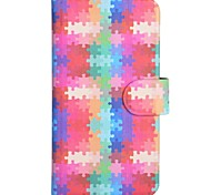 Jigsaw Puzzle Pattern PU Mobile Phone Holster With Card Slot for Samsung S3/i9300