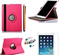 Cowboys Rotating PU Leather with Protective Film、Stylus and Dust Plug for iPad Air 2/iPad 6 (Assorted Colors)