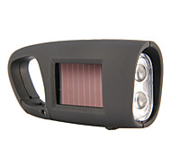Solar Power Generation LED Portable Flashlight