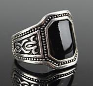 z&cuadrado negro anillo de declaración de los hombres joya x® estilo europeo