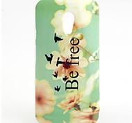FLOWER Pattern TPU Soft  Cover for Motorola Moto G2