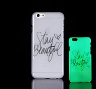 Phrase Pattern Glow in the Dark Hard Case for iPhone 6