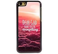 personnalisé cas de téléphone - cher cas conception de dieu en métal pour iPhone 5c