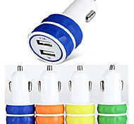 ES-03 Car Charger with 2-Port USB Hub for iPhone 6/6 Plus and Other Cellphones (5V 1A/2.1A)