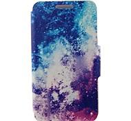 Для Кейс для Nokia Бумажник для карт / Флип Кейс для Чехол Кейс для Пейзаж Твердый Искусственная кожа Nokia Nokia Lumia 625