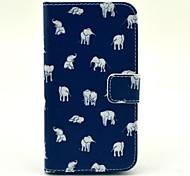 Indischer Elefant-Muster PU Ledertasche mit Kartensteckplatz und stehen für Samsung Galaxy Core 2 g355h / g3558 / g3559