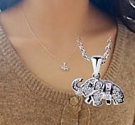 o colar de jóias de elefante, em 925 colar de jóias de prata, colar de zircônia cúbica, colar de jóias das mulheres