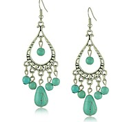 Beautiful Siliver Vintage Turquoise Earrings