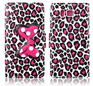 Attractive Leopard Print Pattern PU Leather Full Body Case with Stand for Samsung Galaxy Alpha G850F