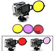 Kit de filtro de buceo bajo el agua de corrección de color de 58 mm profesional w / convertidor para hero3 GoPro