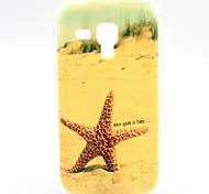 patrón de estrellas de mar playa de TPU suave para samsung duos tendencia galaxia s7562
