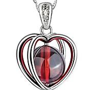 925  Women's Garnet Print Necklace