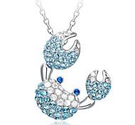 925 Women's Crab Print Necklace
