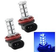 Merdia H11 1.5W 95LM 18x5050SMD LED Blue Light for Car Flashing Light / Fog Light Bulbs (Pair/12V)