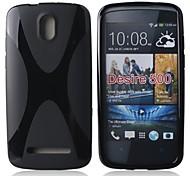 x linea TPU morbida per HTC Desire 500 (colori assortiti)