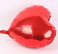 50 PC la película de aluminio de corazón del globo de 10 pulgadas (colores al azar)