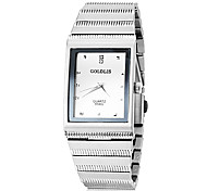 JUBAOLI Men's Dress Watch Quartz Stainless Steel Band Black Silver