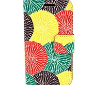 Sun Flower Pattern PU Leather with Case and Card Slot for Trend Duos S7562