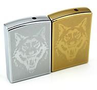 Personalized Engraving Wolf  Pattern Metal Electronic Lighter