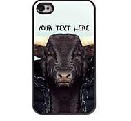 personalisierte Telefon-Tasche - Kuh Design-Metall-Case für iPhone 4 / 4s