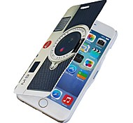 Camera Pattern Magnetic Flip Full Body Case with Hole for iPhone 6