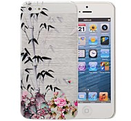 Chinese Bamboo Pattern Pattern PC Brushed Case for iPhone 5/5S