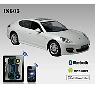 i-control de licencia de coche porsche bluetooth para el iphone, ipad y is605 androide