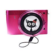 40.5mm / 49mm niedlichen Cartoon Objektivdeckel mit kleinen schwarzen Katze Muster